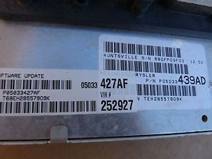 2006 Chrysler PT Cruiser 5 Speed ECU ECM Engine Computer P05033427AF 05033427AF