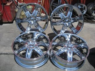 "26"" Dub Illusion Chrome Wheels Rims and Tires Package Gianna Lexani asanti MHT"