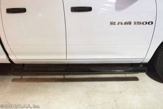 "Nerf Step Bars 4"" Oval Black 2009 2012 Dodge RAM 1500 Pickup Quad Cab"