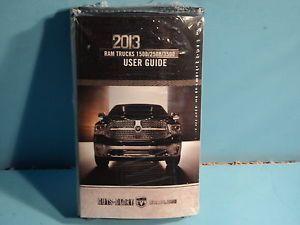 13 2013 Dodge RAM 1500 2500 3500 Owners Manual User Guide