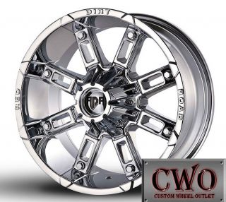 17 Chrome Rdr Thunder Wheels Rims 5x139 7 5 Lug Dodge RAM Dakota 1500 F 150 CWO