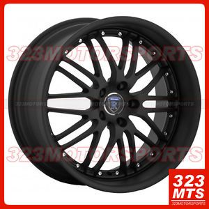 "19"" Rohana RL06 Matte Black Lip Wheels Rims Lancer Maxima IS300 Audi BMW Jaguar"