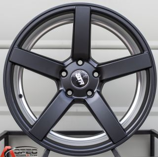18x8 9 Str 607 5x112 Black Wheel Fit Audi A4 B4 B5 B6 A5 A6 A7 S4 TT VW Jetta