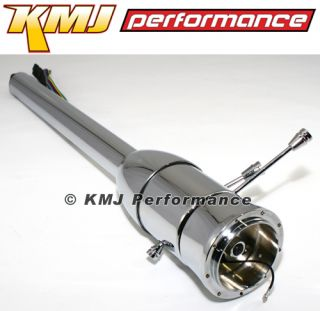 "Chevy Pontiac GM Style Hotrod Chrome Steering Column Floor Shift 32"" Universal"