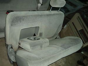 Ford F150 F250 2nd Second Row Bench Seat Seats Truck Gray
