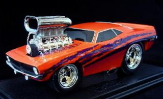 1970 Plymouth Cuda Muscle Machines Diecast 1 18 Scale Orange
