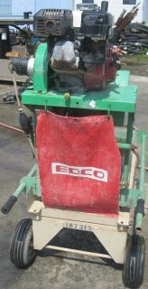 "Edco BB14 5 5H 14"" Brick Saw Masonry Table Saw Gas Honda Engine 5 5 HP"