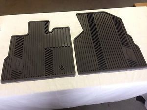 2010 2012 Chevy Equinox All Weather Front Floor Mats Black 22793573 GM New