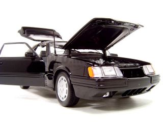 1986 Ford Mustang SVO Black 1 18 Scale Diecast Model
