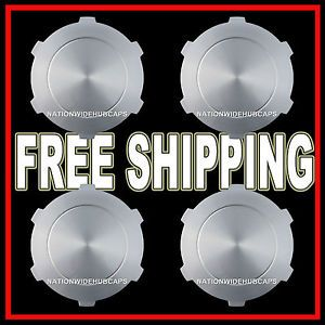 "Set of 4 GMC Sierra Yukon 17"" Wheel Center Hub Caps Rim Nut Covers 6 Lug Wheels"