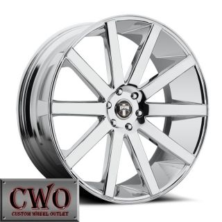 24 24X10 Chrome Dub Shot Calla Wheels Rims 6x139 7 30mm Offset