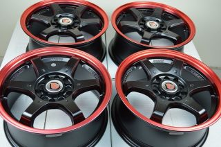 15 Red Lip Rim Tire Wheel PT Cruiser Integra Protege Probe Civic Neon Corolla CL