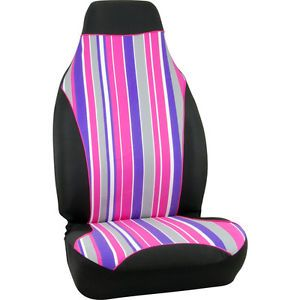 2 New Honda Civic Fit Accord CRV Candy Stripes Bucket Seat Covers Car Truck SUV