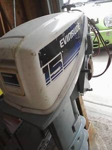 15H Evinrude Boat Sailboat Outboard Motor Engine Long Shaft Electric Start