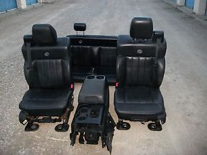 04 07 Ford F150 Harley Davidson Black Leather Seats Console Nice Leather