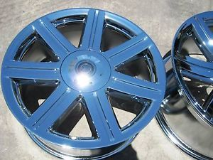 "Set of 4 New 18"" 19"" Chrysler Crossfire Factory Chrome Wheels Rims 2229 2230"
