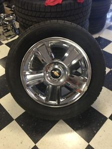"Chevy Silverado 20"" Chrome Texas Edition Wheels and Tires Original Rims"