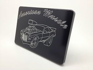 Old Skool Hot Rod Street Machine Aluminum Billet Hitch Cover Plug