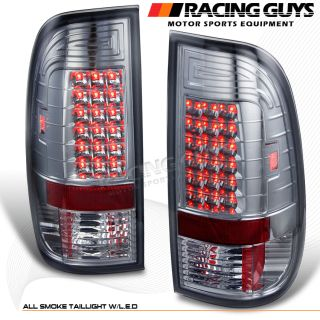 97 03 Ford F150 Pickup Smoke LED Turn Signal Tail Lights Brake Lamps Assembly