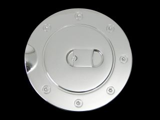 99 07 Ford Super Duty Chrome Fuel Gas Cap Door Cover