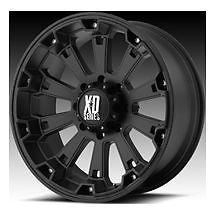 "20"" XD Misfit Matte Black Rims w 295 55 20 Nitto Trail Grappler MT Tires Wheels"