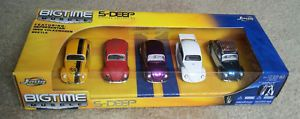 Jada Toys Dub City 5 Deep 1959 Volkswagen VW Beetle 5 Car Collection 1 64 Nrop