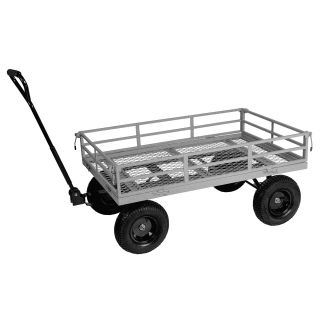 Tahoe 60605105 52in Hammer Gray Heavy Duty Garden Utility Cart