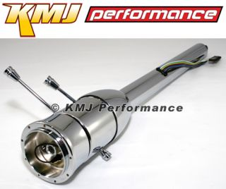 "GM Style 30"" Chrome Tilt Steering Column Floor Shift Aftermarket Chevy Hot Rod"