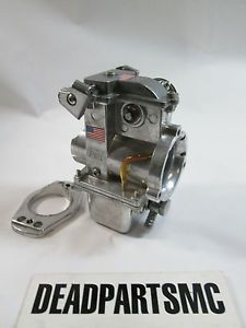 Harley Look Close Hurst Qwik Silver Edelbrock Flat Side 42mm Carburetor Carb