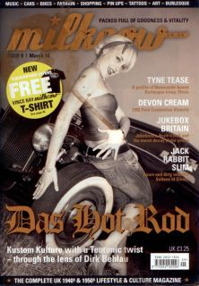 Milkcow Magazine 9 Vtg Style Pinup Hot Rods Rockabilly Car Culture Style Deluxe
