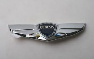 09 12 Hyundai Genesis Sedan V6 V8 R Spec Trunk Tailgate Winged Emblem Badge