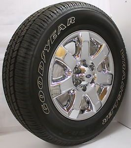 "2013 Ford F150 Expedition Chrome Clad 18"" Wheels Rims Tires Lugs New Takeoff"