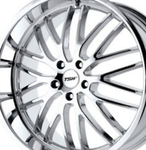 "18"" TSW Chrome Staggered Wheels Rims 5 x 4 5 5 x 114 Lexus IS250 is350 Mustang"