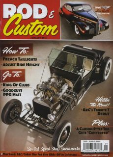 Rod Custom Magazine January 2014 Hot Rod Rat Street Old School Flathead