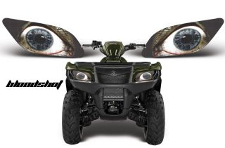 AMR Racing Head Light Eyes Graphic Decal Suzuki King Quad ATV Parts Bloodshot
