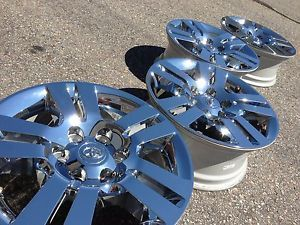 "2013 18"" Toyota Tacoma Limited TRD Factory Stock Chrome Wheels Rims 4Runner"