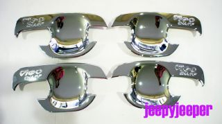 D Chrome Door Handle Cover Insert Bowl Trim Toyota Hilux MK7 Vigo Champ Series2