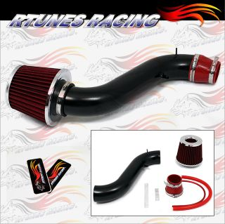 Rtunes Matte Black Red 90 93 Accord All 2 2L L4 Short RAM Air Intake Induction