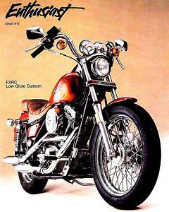 1985 Harley Davidson Enthusiast Magazine MS Harley Contest FXRC Low Glide Custom
