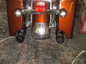Chrome Harley Touring Rear Fender Tri Bar Extension 95 2008 FLHR FLTR FLHT