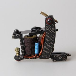 New Professional Custom Handmade Tattoo Machine Gun 10 Wrap Coils Shader Supply