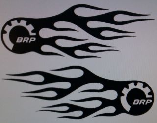 BRP Flames Logo Decal Vinyl Stickers Can Am Spyder Sea Doo Ski Doo Bombardier