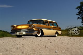 1958 Brookwood Bagged Custom Station Wagon Chevy Rat Rod Street Hot Rod Air Ride