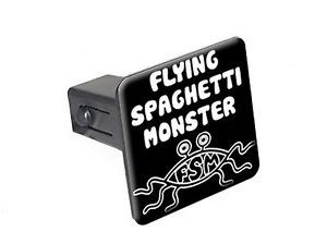 "Flying Spaghetti Monster FSM 1 25"" Tow Trailer Hitch Cover Plug Insert"