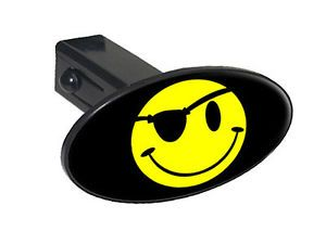 "Smile Smiley Pirate Face Oval 1 25"" Tow Trailer Hitch Cover Plug Insert"