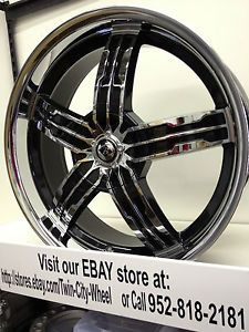 18 inch Black Ice Chrome Wheels Rims Pontiac Grand Am Prix Sunfire Vibe Torrent