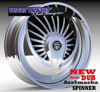 "Dub Spinner 24"" Wheel Set Skirtz Spinners New Dub Azzsmacka Spin Floater Spinner"