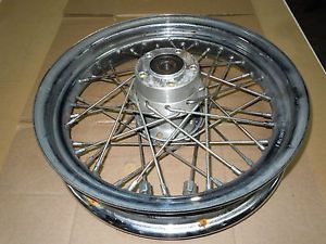 "Harley Davidson Wheel HD Rear Wheel 16"" x 3"" 40 Spoke Chrome Rim 40975 00 2274"