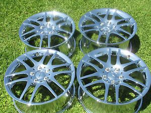 "17"" New Mercedes SLK350 CLK350 Chrome Wheels Rims"