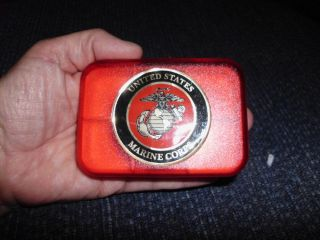 USMC Marine Corps Plastic Pill Holder Vitamin Box Medication Organizer Free SHP